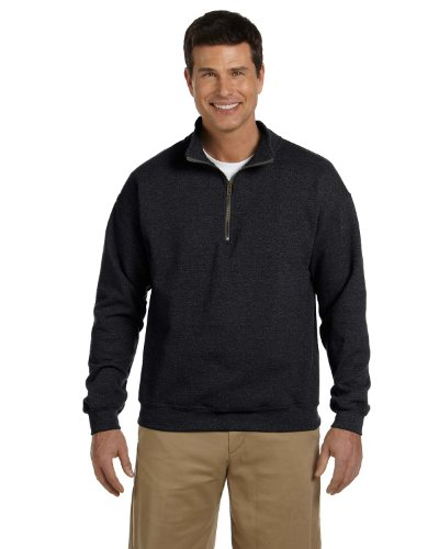 Gildan Heavy Blend 8 oz. Vintage Classic Quarter-Zip Cadet Collar Sweatshirt, Black, XX-Large