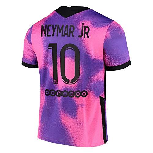GJMQQ Unisex-Trikot T-Shirt Trikot 20-21 Heim- und Auswärtsspiel Zwei Auswärts Nr. 10 Neymar Fußballtrikot