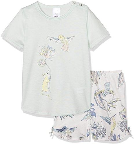 CALIDA Mädchen Little Kolibri Pyjama kurz Zweiteiliger Schlafanzug, Blau (Opal Blue 581), 116