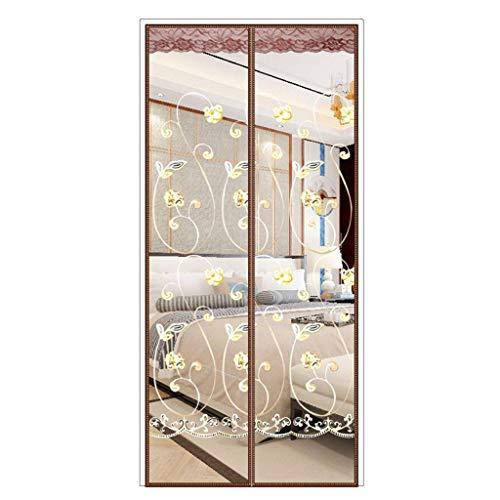 Longsing Zanzariera Magnetica per Porte Tenda Porta magnetica per zanzariera Con telaio Completo in Velcro e Calamite Chiusura automatica per Porte Windows Anti Mosquito Flies 100 x 210cm Nero