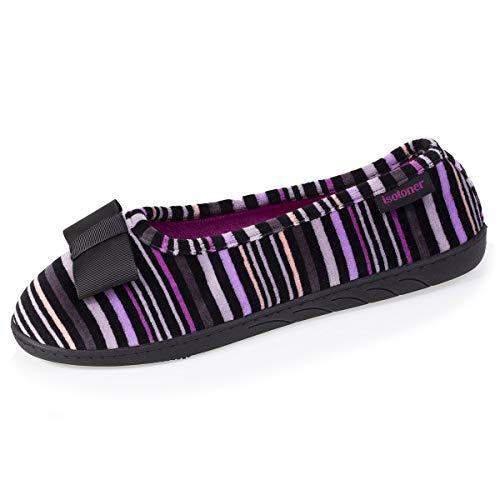 Isotoner - Zapatillas de bailarinas para mujer, Multicolor (multicolor), 39 EU
