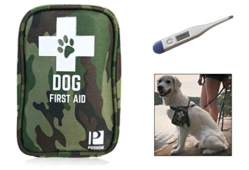 PushOn Dog First Aid Kit with Thermometer and Emergency Blanket