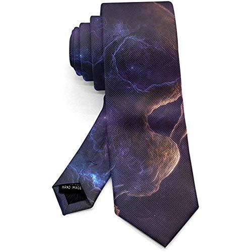 Kleurrijke Halloween Space schedel mannen Necktie Mode Tie voor pak College Festival