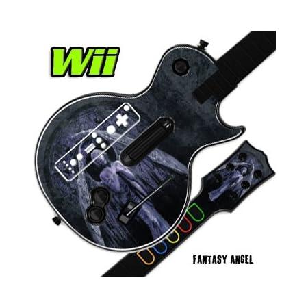 Mightyskins Skin Decal Skin Compatible with Guitar Hero 3 III Nintendo Wii Les Paul - Fantasy Angel