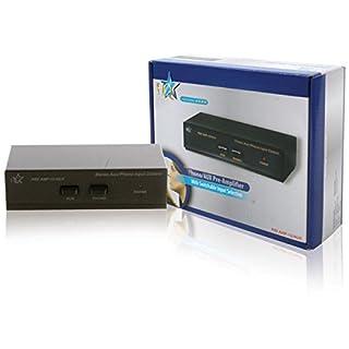 Pre-amplificatore stereo ideale per il collegamento con giradischi, microfoni o altre sorgenti E' possibile passare da una sorgente input all'altra Con ingressi phono e ingresso AUX aggiuntivo Dimensioni: 20.5 x 16.5 x 6 cm Peso: 700 gr
