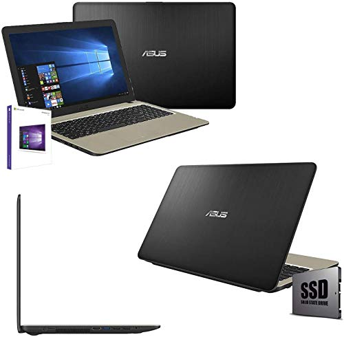 Asus Vivobook N4000 Portatile Pc Display Cpu Intel Dual Core Fino a 2.60Ghz/Ram 4Gb/SSD 256GB/Graphics Intel HD600/Hdmi Wifi Bluetooth/Windows 10pro/Open Office,tastiera querty,15.6 '