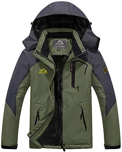 Softshelljacke Herren Wasserdicht Funktionsjacke Warme Fleecejacke Winddicht Skijacke Winterjacke Fleece Gefüttert Outdoorjacke Wasserdicht Arbeitsjacke Taschen Übergangsjacke Schneejacke Hoodies