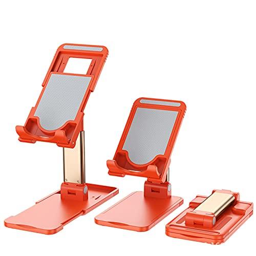 ALLWIN Soporte teléfono, Soporte teléfono Celular Totalmente Plegable, Soporte teléfono de Escritorio ángulo Altura Ajustable, Soporte teléfono para Escritorio, Compatible Todos los teléfonos,Rojo