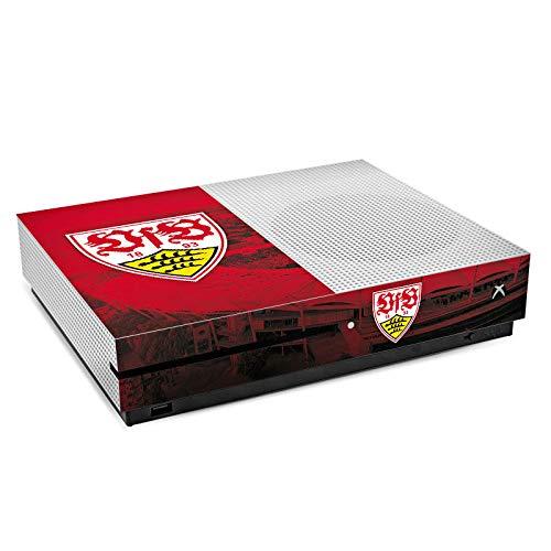 DeinDesign Skin kompatibel mit Microsoft Xbox One S Folie Sticker VfB Stuttgart Stadion Offizielles Lizenzprodukt