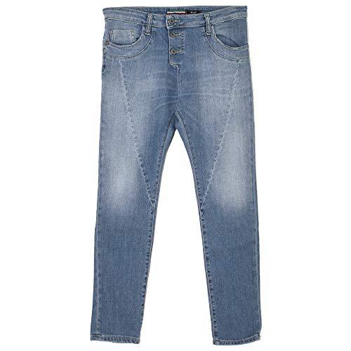 Please, P78A, Damen Damen Jeans Hose Stretchdenim Midblue XS [21754]