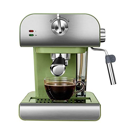 WN-PZF Estilo Retro Máquina De Espresso Y Construido En Leche Vaporizador, Barista Cafetera Ideal para Americanos, Lattes Y Cappuccinos, Soporte del Filtro De Polvo
