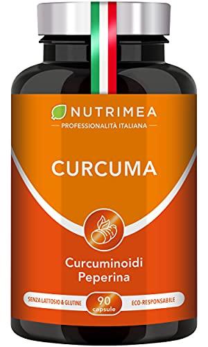 CURCUMA NUTRIMEA | Curcuma Piperina Plus Olio Extra Vergine Oliva Biologico | 95% Estratto Curcumina...