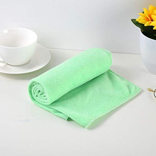 Gbcyp washandje microfiber washandjes handdoek badhanddoek douche absorberend microfiber zachte comfortabele badhanddoek, mintgroen