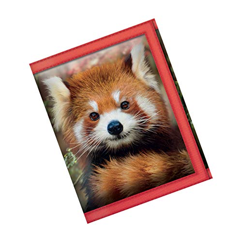 3D LiveLife Carteras - Bebé Panda Rojo de Deluxebase. Cartera lenticular 3D con diseño de Animales Salvajes. Billetera con Monedero y Tarjetero con ilustración del reconocido Artista David Penfound