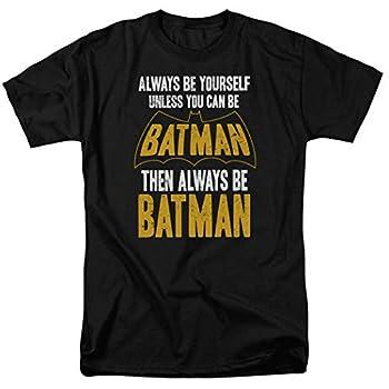 Batman Always Be Yourself DC Comics T Shirt & Stickers  XX-Large  Black