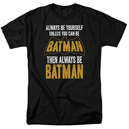 Batman Always Be Yourself DC Comics T Shirt & Stickers (Medium) Black