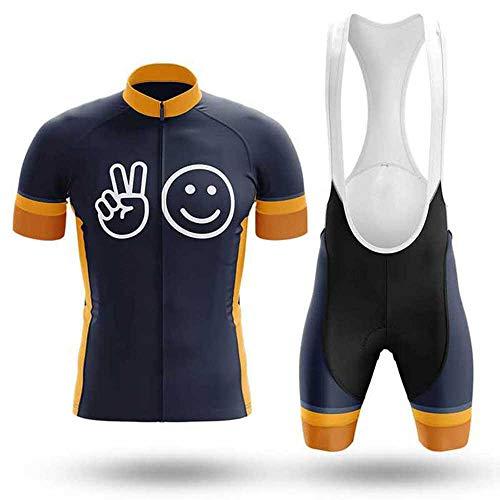 NBWS Traje de Ciclismo para Hombre Culotte y Maillot con 9D Gel Pad para MTB, Spinning, Bicicleta de Carretera