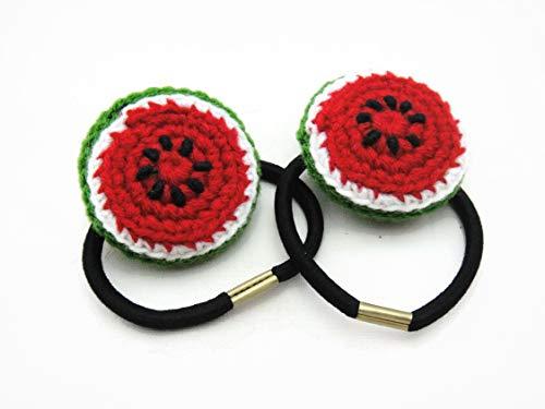 Hair Elastic Ties Girls Accessories Crochet Fruit Watermelon