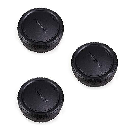 Camera Rear Lens Cap & Body Cap Cover for Fuji Fujifilm X Mount Camera...