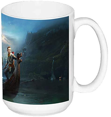 MasTazas God of War Kratos and Atreus Taza Grande Ceramica 15 oz ≈ 443 ml
