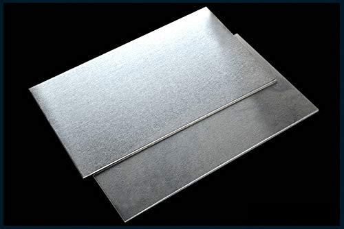 Verakee Yuhong-Platos Placa de Aluminio Placa de lámina Placas PULTAS Frame for Impresora 3D DIY Cama con calefacción Calentada Hotbed, Alta pureza (Color : 0.8x200x200mm)