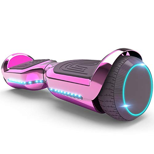 New 6.5' Hoverboard with Front and Back LED Lights and Bluetooth Speaker Smart Self Balance Scooter- Assorted Colors