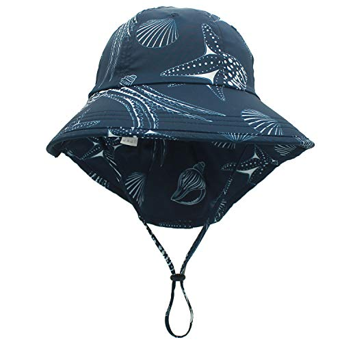 Connectyle Boys Girls UPF 50+ Flap Sun Hat Summer Play Hat for Kids Safari Sun Hat with Neck Cover