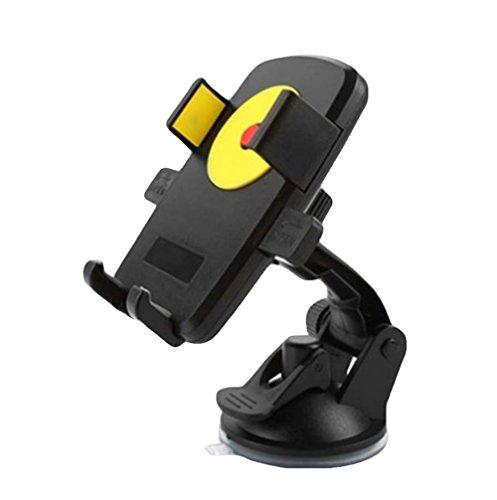 DaoRier KFZ Halterung Handyhalterung 360 Grad Universal Sauger Saugnapf Windschutzscheibe Autohalterung Auto Halter für iPhone 4 4s 5 5s se 6 6s 7 Plus Galaxy S4 S5 S6 S7 Huawei Sony Navi Gelb