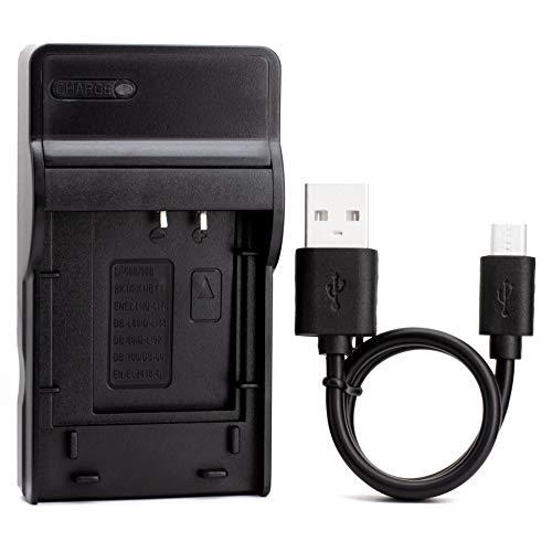 LI-60B USB Cargador para Olympus FE-370 Cámara y Más