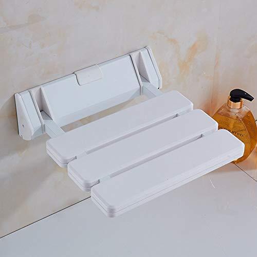 Siège de Douche, sièges pliants Tabouret de Douche Tabouret d'allée en métal pour Adultes Personnes âgées Salle de Bain Couloir Chaussures à Langer-Blanc
