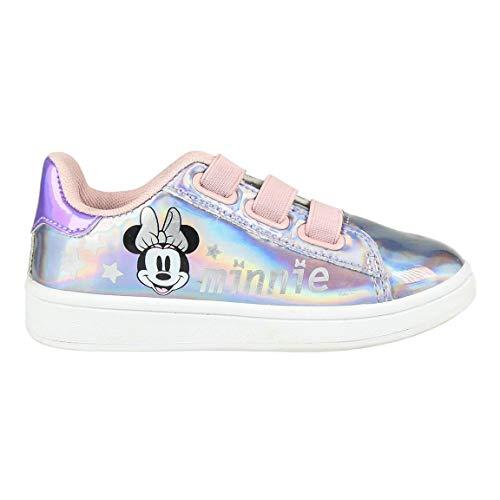 CERDÁ LIFES LITTLE MOMENTS Cerdá-Zapatillas Iridiscentes de Minnie Mouse de Color Rosa, Niñas, 24 EU