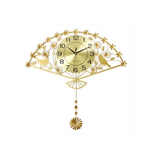 XYZMDJ Sala De Estar Moderno Reloj De Pared Minimalista, Reloj De Hierro Forjado De Cuarzo Y Ciruela
