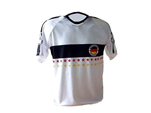Spielfussballshop Deutschland Trikot Stars mit Wunschname Nummer Kinder Größe 104