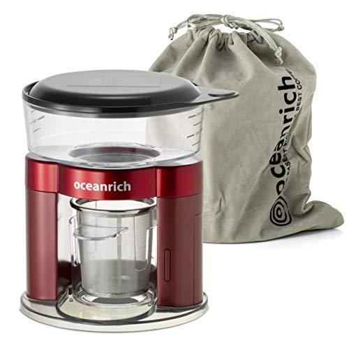 Oceanrich - Juego de cafetera automática de cerveza individual de 8.5 oz, seguro sin BPA, gran cerveza de goteo de mano para el hogar, oficina, viajes y al aire libre