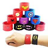 LATERN 10Pcs Bunte Schnapparmbänder für Kinder, Superhelden Slap Bands Silikon Wristband Party Bag...