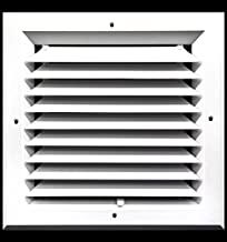 8 x 8 (in) HVAC Vent Cover - 1 Way Extruded Aluminum Ceiling Diffuser Square [Outer Dimensions: 11