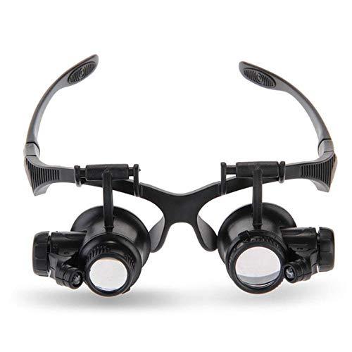 MSXBMSY Electronic Magnifier 10-25x Joyero Mighty Watchmaker Lupa Lupa Lupa Diadema Gafas Lupas LED Luz Reparación Presbicia Presbiopia