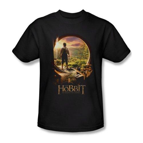 The Hobbit - Herren Hobbit Tür In T-Shirt In Schwarz, XX-Large, Black