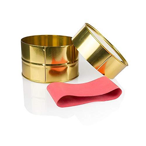 Kaviardose - gold, unbedruckt, ohne Gummi, ø12,5 cm, für 1000g Kaviar, 1 St