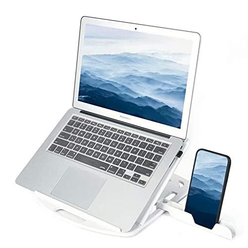 AWJ Soporte para Tableta para computadora portátil,Soporte para computadora portátil de Escritorio portátil Plegable Giratorio Ajustable Soporte Universal para computadora Port