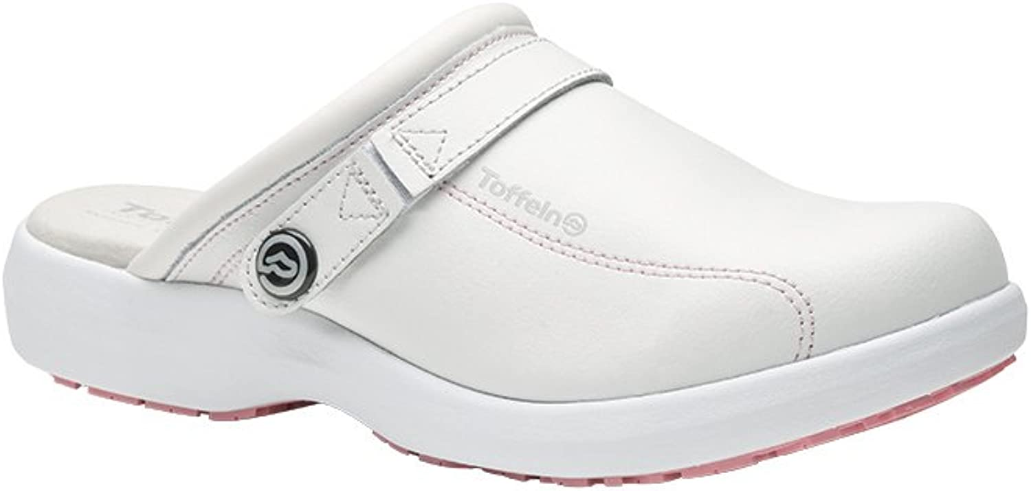 Alexandra Toffeln STC-FW537WP-7 Ultra Lite Clog, Leather, Plain, Size  7, White Pink