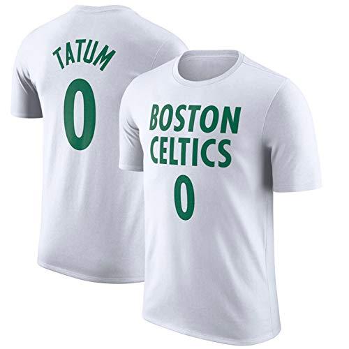 XGMJ Tatum Walker Brown Camiseta de entrenamiento 2021 Nueva Temporada Celtics City Edition Deportes Manga Corta Hombre Casual Suelto, Abanicos Deportes Cómodo Top Blanco 0-XXL