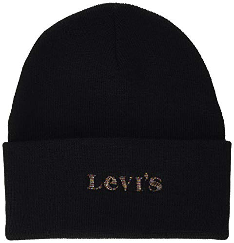 cappello levis donna Levi's Women's Modern Vintage Logo Beanie-Holiday Expression Berretto
