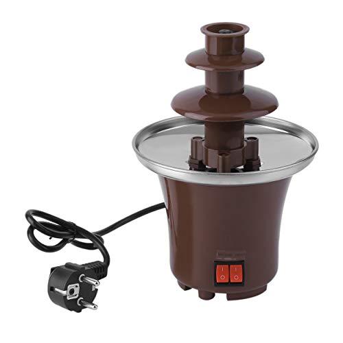 Lodenlli Haushalt Mini Schokoladenbrunnen Fondue hausgemachte elektrische Schokolade Schmelzturm dreischichtige Wasserfallmaschine