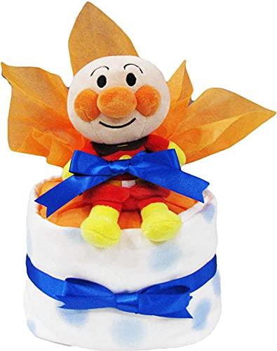 1段 アンパンマン ブルー パンパース s おむつケーキ オムツケーキ 男の子  出産祝い 誕生日祝い