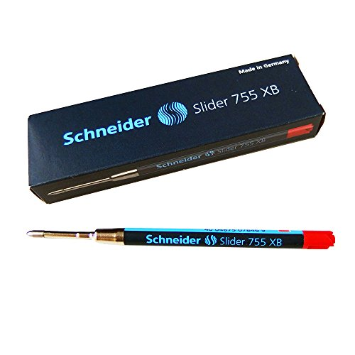 シュナイダー SCHNEIDER ボールペン 替え芯 スライダー SLIDER リフィル 文字サイズ:XB 1箱 10本セット 755 XB (PARKER パーカー URBAN アーバン/IM アイエム シリーズ 対応) (レッド (175502-1bo