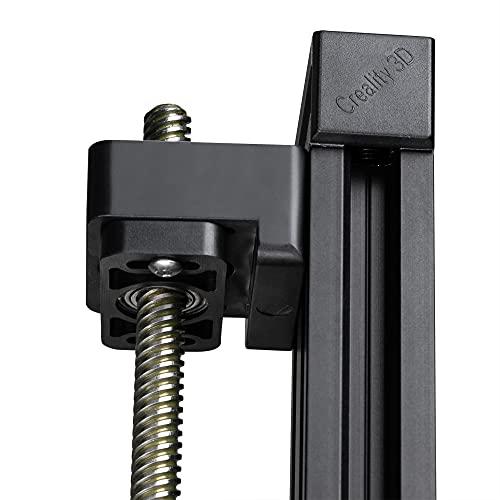 UniTak3D Regulable Plástico Soporte de Cojinete de Varilla Z, Montaje Superior con Tornillo de Avance del Eje Z, Compatible con Impresoras 3D Creality CR-10 / CR-10S, Ender 3 / Ender 3Pro Series-2Pcs