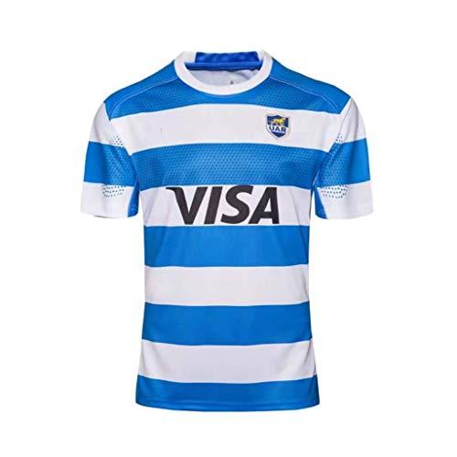 Hombres Camiseta de Rugby Equipo Argentina Football Fan Camisetas 18 19 Traje de Entrenamiento de Pelota de Rugby Rugby Jerseys Outdoor Camisetas de Manga Corta