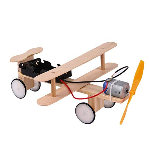 Kocreat Eléctrico Taxiing Aircraft Biplane-Motor eléctrico Ciencia Física Juguetes-DIY Madera Science Experiment...
