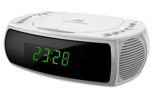 ROXX Radiowecker mit Radio, CD, USB Ladefunktion und 2 Weckzeiten CR501 Weiss